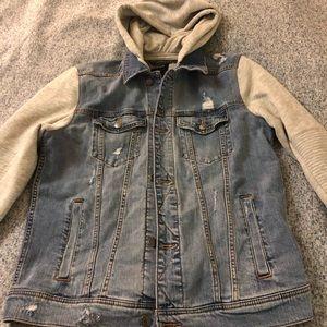 Denim jacket hoodie